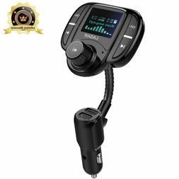 LASAR Bluetooth FM Transmitter,Wireless Radio Adapter Hands-