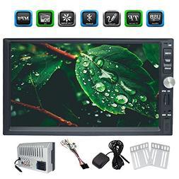 EinCar Latest 7 Inch 2 Din In-Dash HeadUnit HD Touchscreen D