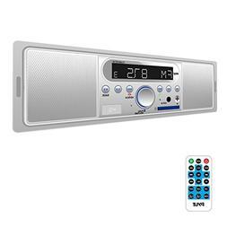 Pyle Marine Bluetooth Stereo Radio - 12v Single DIN Style Di