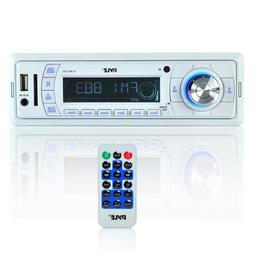 PYLE MARINE BOAT STEREO MP3/WMA/AMFM WEATHER BAND RADIO PLAY