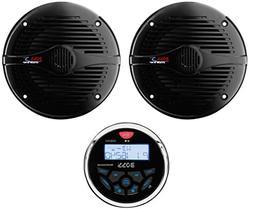 "Boss MGR350B 3"" Gauge Marine MP3/Radio Receiver Bluetooth AT"
