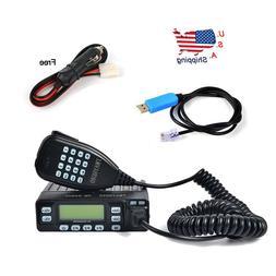 Min Car Mobile Radio Dual Band VHF/UHF 136-174/400-470MHz Tr