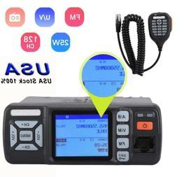 Mini Car UHF VHF Dual Band Mobile 2Way Ham Radio Walkie Talk