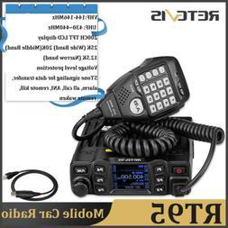 Mobile Car Amateur Radio Retevis RT95 VHF 200CH Dual Band TF
