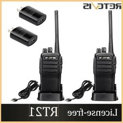 New USB Car Charger+Retevis RT21 UHF Walkie Talkie Two Way R