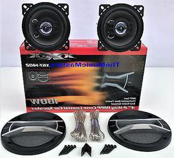 """Pair 4"""" inch Quality Coaxial 2-Way Car Audio Stereo Radio Re"""