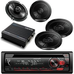 "Pioneer 6.5"" & 6x9 Speakers, Pioneer AUX CD Mp3 Car Radio,"