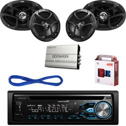 "Pioneer Bluetooth CD USB Radio,JVC 6x9""&6.5"" Car Speakers w/"