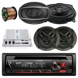 "Pioneer CD Bluetooth Radio Player, 2x 6x9"" & 2x 6.5"" Speaker"