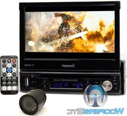 "pk FARENHEIT TI895B 7"" TV CD DVD BLUETOOTH MP3 USB SD AUX ST"