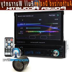 "pkg POWER ACOUSTIK 7"" TV CD DVD BLUETOOTH MP3 USB SD CAR VID"