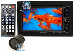 "pkg FARENHEIT TI-623B DOUBLE DIN 6.2"" TV CD DVD USB SD BLUET"