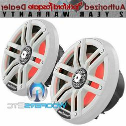 "ROCKFORD FOSGATE M2-8 WHITE 8"" LIGHTS MARINE 2-WAY TWEETERS"