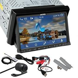 Pupug 7 Inch Touch Screen Bluetooth Double DIN Car DVD Video