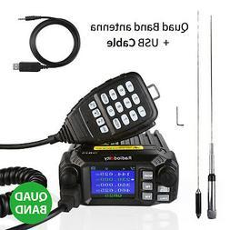 Radioddity QB25 Pro Quad Band Mobile Car Radio VHF UHF 25W w
