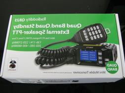 Radioddity QB25 Pro Quad Band Mobile Car Radio Transceiver V