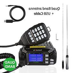 Radioddity QB25 Pro Quad Band Quad-Standby Mobile Ham Amateu