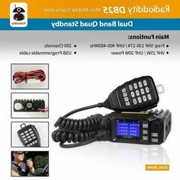 QYT KT-8900D Dual Band Quad Standby 5Tone 25W VHF UHF Car Ha