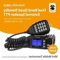 QYT KT-8900D Dual Band Quad Standby 5Tone 25W VHF UHF Car/Tr
