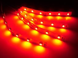 "RC LED's Red LED Strip's Bar Lights Superbright 4"" Radio Con"