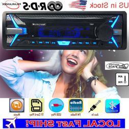 RDS Car Radio 12V Bluetooth MP3 Player USB FM AM AUX EQ Play