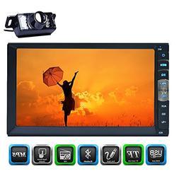 HD Reverse Camera Autoradio Bluetooth Double 2 din Car Stere