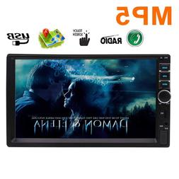 Reverse Camera Input + Wireless Remote Contral 7 inch Double