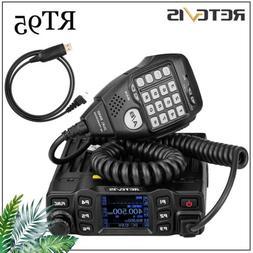 Retevis RT95 Dual Band Mobile Bus Car Radio Transceivers VHF//UHF 200CH LCD+USB