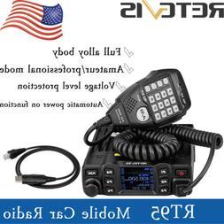 Retevis RT95 Mobile Car Radio UHF+VHF 144-148/430~440MHz 25W