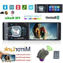 "Single 1 DIN 4.1"" Car Radio Stereo Video MP5 Player Bluetoot"