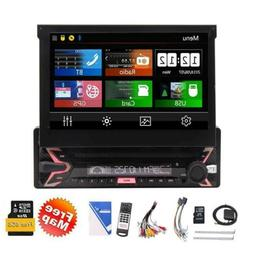 Single 1 Din Car Radio 7 Inch Touch Screen DVD Player Stereo
