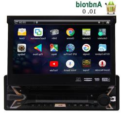 Single Din Touchscreen Car Stereo Android 10.0 Car Radio DVD