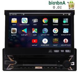 Single 1 DIN Car Stereo Radio Android 10 GPS Navi WiFi BT+ H