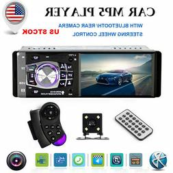 Single 1 DIN Car Stereo Video MP5 Player BT FM Radio AUX USB