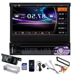 "Single 1DIN 7"" Car Retractable Radio Stereo MP5 Player GPS N"