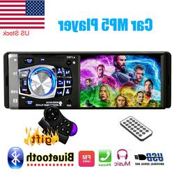 "Single 1DIN Car Radio Stereo Video MP5 Player 4.1"" Screen Bl"