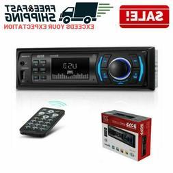 Single Din Bluetooth Car Stereo FM AM Radio USB AUX Digital