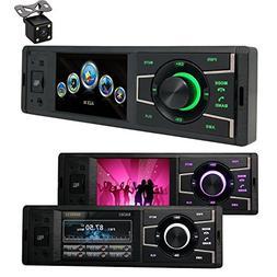 CACA Single DIN Bluetooth In-Dash/Digital Media Car Stereo R