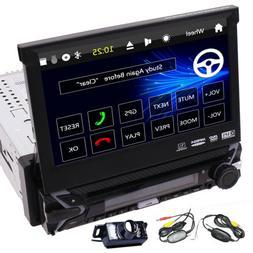 Single Din Car DVD Player GPS Touchscreen Stereo Car Radio F