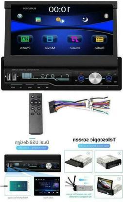 "Single Din Car Stereo 7"" Bluetooth Car Audio Video Player Fm"