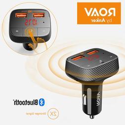 Roav SmartCharge F0, by Anker, Bluetooth FM Transmitter, Rec
