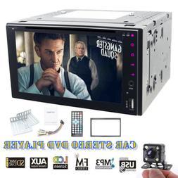 For Sony Lens Backup Camera+SWC Double Din Car Stereo Radio