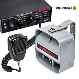 LAMPHUS SoundAlert Siren & Slim Speaker PA System        Eme