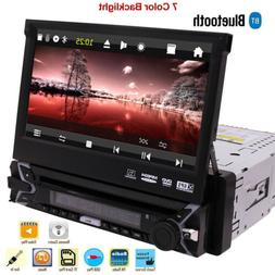 Stereo Single Din Car Radio DVD Player GPS 7 inch Touchscree