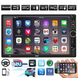 """SWM 2 DIN Car Stereo MP5 Player 7"""" Touch Screen Bluetooth FM"""