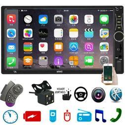 SWM 2DIN Car Stereo Bluetooth Radio+Steering Wheel Remote+Ca