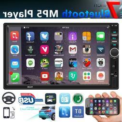 "SWM 7"" 2DIN Car Stereo MP5 Player Touch Screen BT USB FM Rad"
