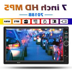 SWM 7018B Double 2 DIN Car Stereo Bluetooth AUX USB TF FM Ra