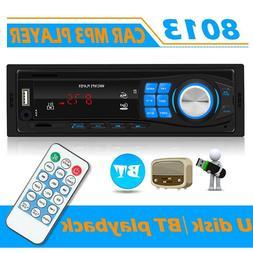 SWM 8013 1DIN In-Dash Car Stereo MP3 Player Bluetooth TF AUX