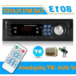 SWM 8013 Single DIN Car StereoMP3 PlayerHead Unit Blueto